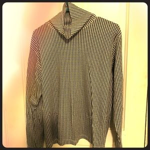 Houndstooth Turtleneck